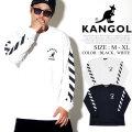KANGOL カンゴール ロンT 長袖Tシャツ メンズ カンガルー ロゴ プリント トリート系 ヒップホップ ファッション 服 通販 LCT0018