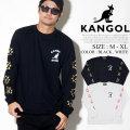 KANGOL カンゴール ロンT 長袖Tシャツ メンズ カンガルー ロゴ プリント トリート系 ヒップホップ ファッション 服 通販 LCT0017
