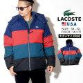LACOSTE ラコステ ダウンジャケット メンズ レディース 大きいサイズ カラ?ブロック 止水ジップ ストリート系 ヒップホップ ファッション BH9358-51 服 通販