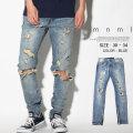 mnml ミニマル デニムパンツ ダメージ ジーンズ メンズ ストリート系 hiphop ヒップホップ ファッション 17ML-AW259D MLDT016