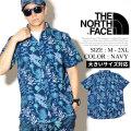 THE NORTH FACE ザノースフェイス 半袖シャツ メンズ 花柄 NF0A3MCI NFOT001