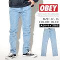 OBEY オベイ デニムパンツ ジーンズ メンズ Gパン ストリート系 ファッション 服 通販 142010055 OBDT003