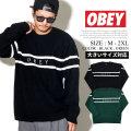 OBEY オベイ セーター メンズ ライン ストリート系 ファッション 服 通販 151000041 OBPT002