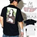 RIPNDIP リップンディップ 半袖 Tシャツ メンズ モナリザ 猫 ネコ ストリート系 スケーター ファッション 服 通販 RDTT025