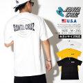 Santa Cruz サンタクルーズ Tシャツ 半袖 メンズ 大きいサイズ ネームロゴ バックプリント ストリート系 スケーター スケボー スケートファッション 44154359 服 通販
