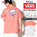 VANS バンズ Tシャツ メンズ 半袖 花柄 逆三角 ロゴ ストリート スケーター ファッション VNTT024