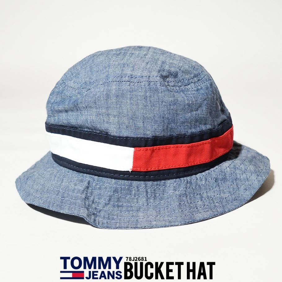 トミーヒルフィガー TOMMY HILFIGER バケットハット 帽子 メンズ レディース ブランド ロゴ CHAMBRAY FLAG BUCKET HAT 78J2681