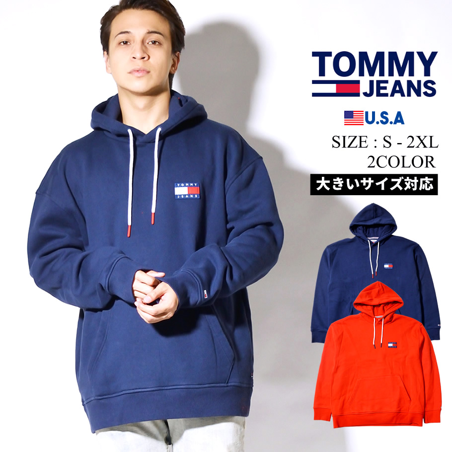 TOMMY JEANS パーカー メンズ ロゴ TJ SMITH PO BADGE HOODIE 78F0218 tmpt016