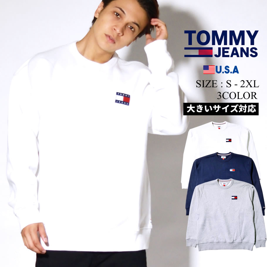 TOMMY JEANS トレーナー メンズ ロゴ TJ JAI BADGE SWEATSHIRT 78F0170 tmpt017