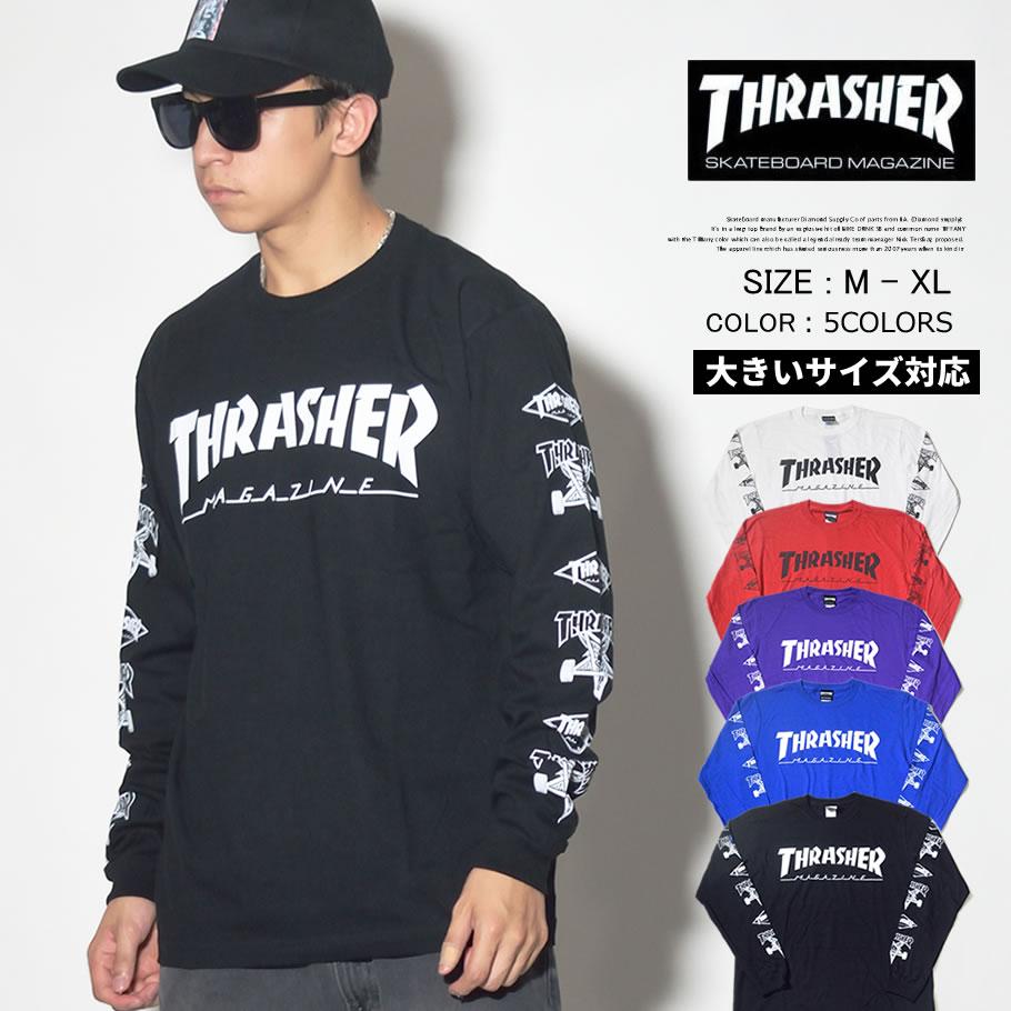 THRASHER スラッシャー ロンT 長袖Tシャツ メンズ ロゴ スケーター スケボー スケートボード ストリート系 ファッション TH8302 服 通販 TSTT116