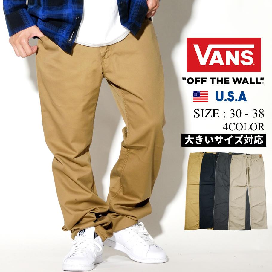 VANS バンズ チノパン ロングパンツ V56  メンズ スケーター スケボー スケート ストリート系 ファッション 服 通販