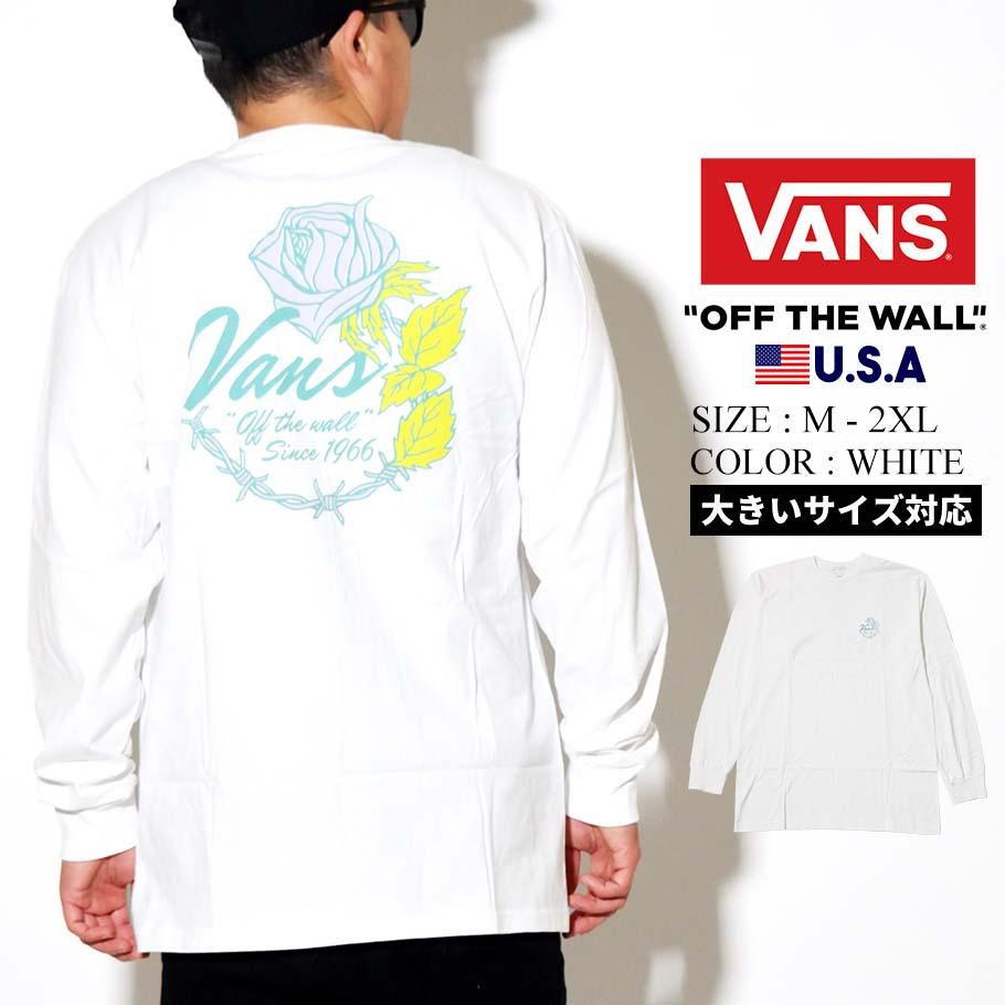 VANS ヴァンズ ロンT 長袖Tシャツ メンズ M ROSE WIRE LS VN0A49QP