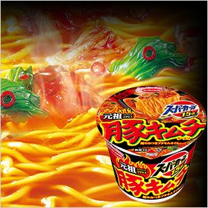 スーパーカップ1.5倍 豚キムチラーメン 超やみつきブタキムオイル仕上げ12食セット