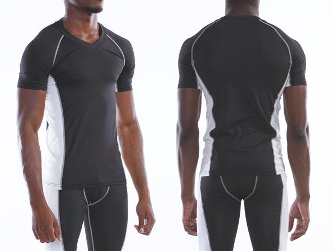【Wundou】 Vネックインナーシャツ 半袖 #P7030