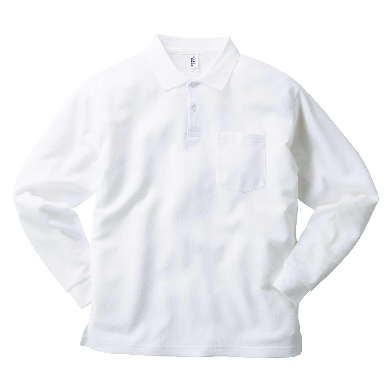 【TRUSS】ポケット付き 長袖 アクティブ ポロシャツ [APL-269]