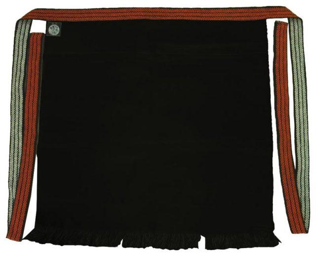 帆前掛け 短寸2ポケット付き ブラック