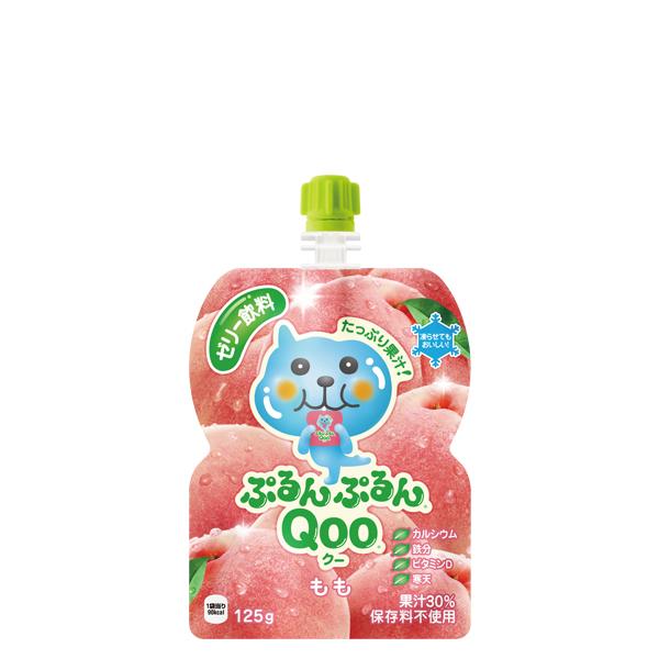 [メーカー直送]【4ケースセット】ミニッツメイドぷるんぷるんQoo もも 125gパウチ(6本入)