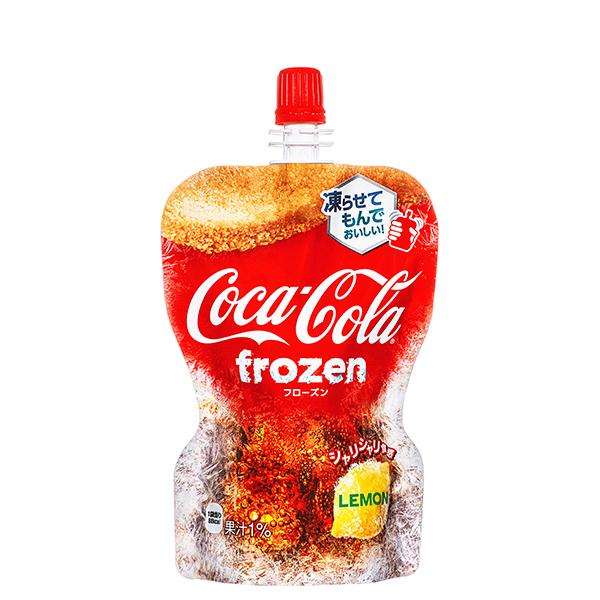 [メーカー直送]【4ケースセット】コカ・コーラ フローズンレモン パウチ 125g