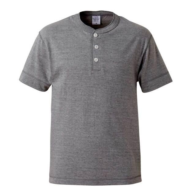 【UnitedAthle】(5.6oz) ヘンリーネック Tシャツ [5004]