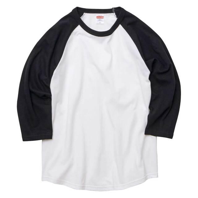 【UnitedAthle】(5.6oz)ラグラン 3/4スリーブ Tシャツ [5045]