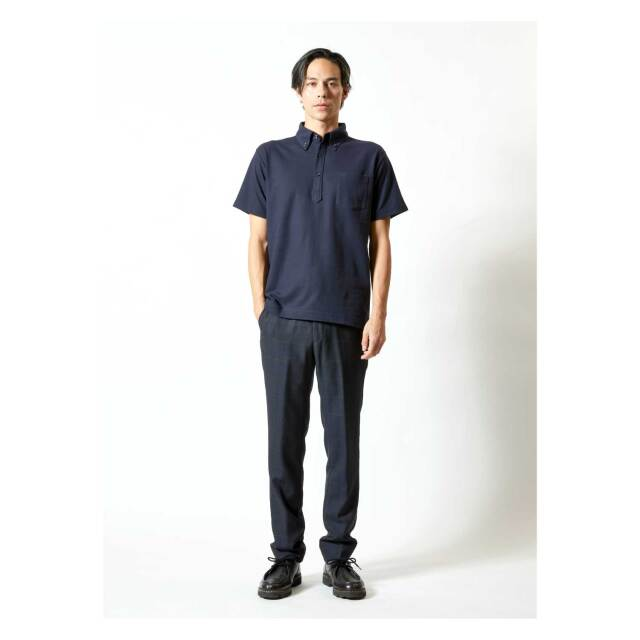 【UnitedAthle】5.3オンス ドライカノコ ポロシャツ (ボタンダウン) (ポケット付) [5051]