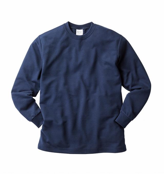 【TRUSS】ハニカム長袖Tシャツ 150-XL (リブ有り) [HNC-204]