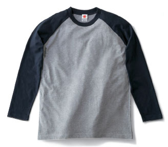 【Lifemax】ラグランロングスリーブTシャツ [MS1602]
