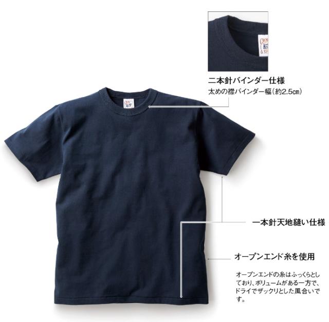 【TRUSS】オープンエンド マックスウェイト バインダーネックTシャツ [OE1118]