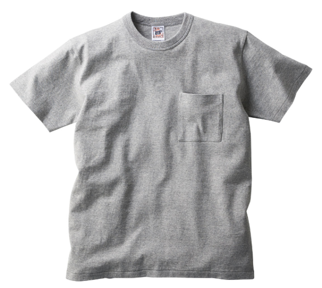【TRUSS】オープンエンド マックスウェイト バインダーネック ポケットTシャツ [OE1119]