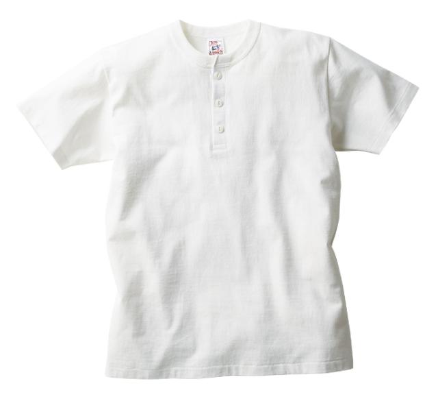 【TRUSS】オープンエンド マックスウェイト ヘンリーネックTシャツ [OE1120]