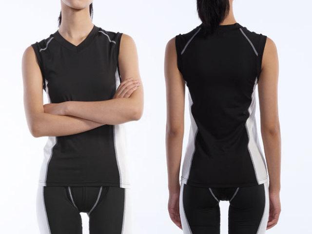 【Wundou】 Vネックインナーシャツ ノースリーブ #P7040