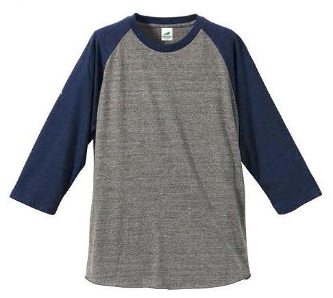 【UnitedAthle】4.4オンス トライブレンド ラグラン 3/4スリーブ Tシャツ [1092]