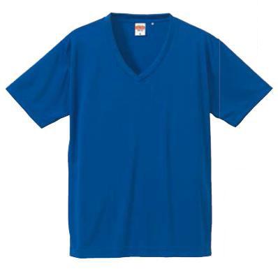 【UnitedAthle】 (4.7oz) ドライシルキータッチ Vネック Tシャツ XS-XL [5091]