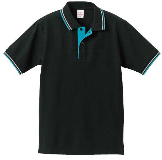 【UnitedAthle】6.2オンス ドライカノコ ハイブリッド ライン ポロシャツ [5192]