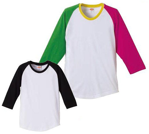 【UnitedAthle】5.0オンス ラグラン 3/4スリーブ Tシャツ (150cm) [5404]