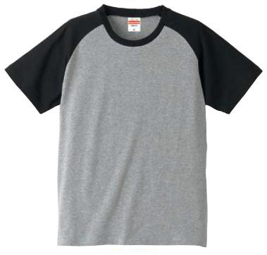 【UnitedAthle】 (5.0oz) ラグランスリーブ Tシャツ [5406]