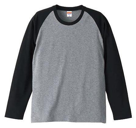 【UnitedAthle】5.0オンス ラグラン ロングスリーブ Tシャツ [5407]