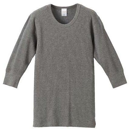【UnitedAthle】5.6オンス ワッフル 1/2スリーブ Tシャツ [5488]