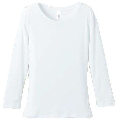 【UnitedAthle】6.2オンス CVC フライス 3/4スリーブ Tシャツ [5491]
