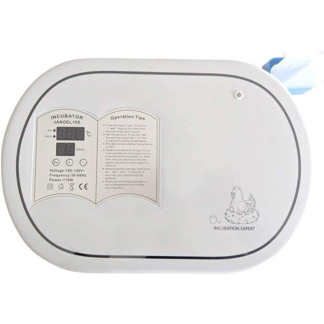 小型自動孵卵器 自動回転機能付き(転卵機能付き)・給水機能付き孵卵器 インキュベーター 日本語説明書付き #JANOEL18S…