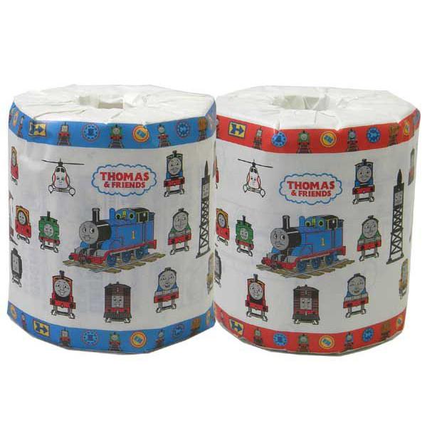 【送料別】 プリント トイレットペーパー 2枚重ね トーマス柄 個包装