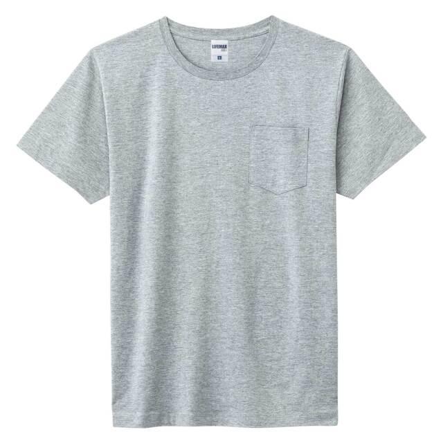 【LIFEMAX】5.3オンス ユーロポケット付きTシャツ  [MS1141P]
