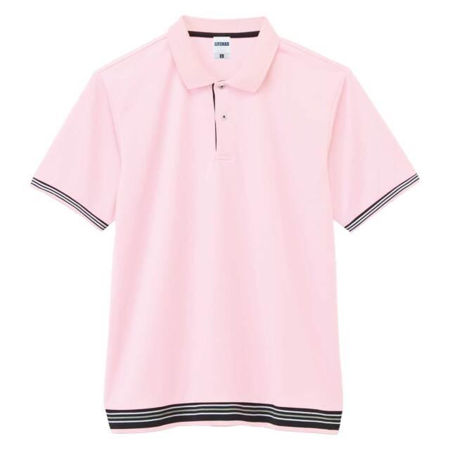 【LIFEMAX】裾ラインリブポロシャツ  [MS3117]