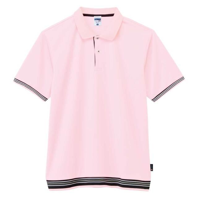 【LIFEMAX】袖ラインリブポロシャツ(ポリジン加工)  [MS3122]