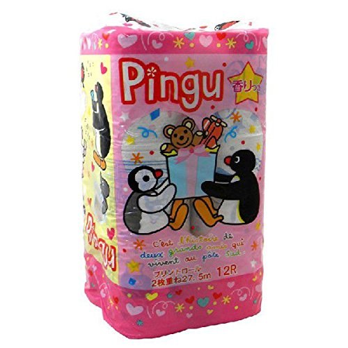 【送料別】 プリント トイレットペーパー 2枚重ね 12Rパック Pingu