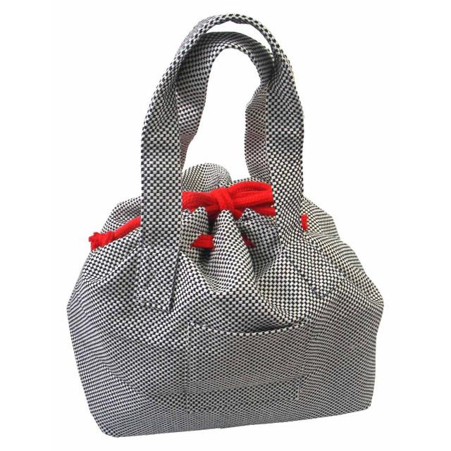 【東三河織物】 刺し子 トートバッグ 巾着タイプ 約32×33×20cm #SK-009
