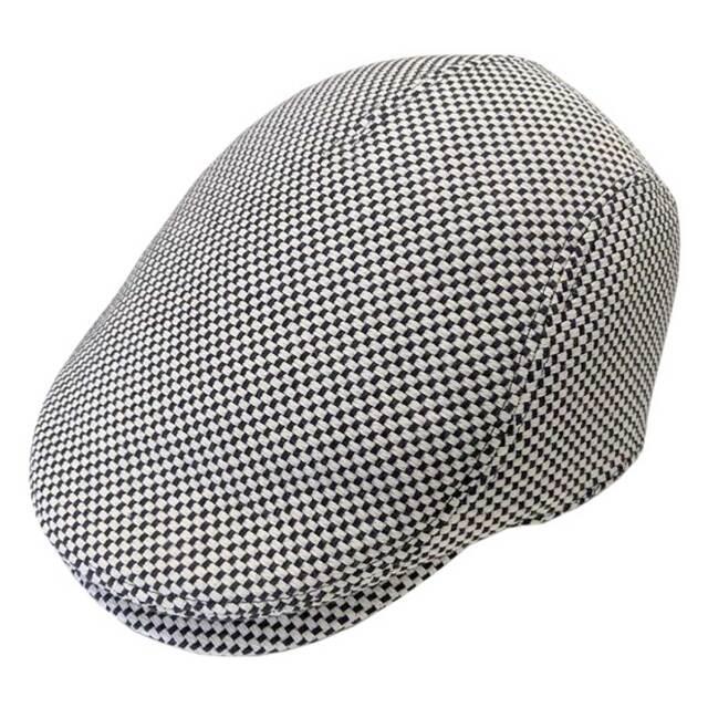 (hanabi)華火 三河木綿 刺し子生地 ハンチング帽 サイズ調整可 【日本製】 (一重刺し子)