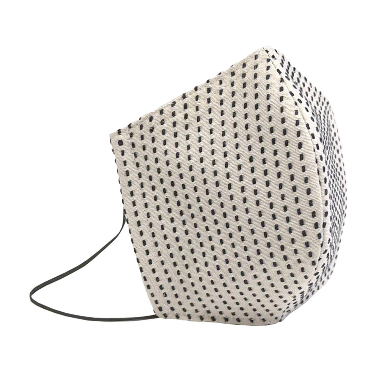 三河木綿一本刺し子使用 一本刺し子布マスク 抗菌・抗ウイルス効果持続 CLEANSE生地使用