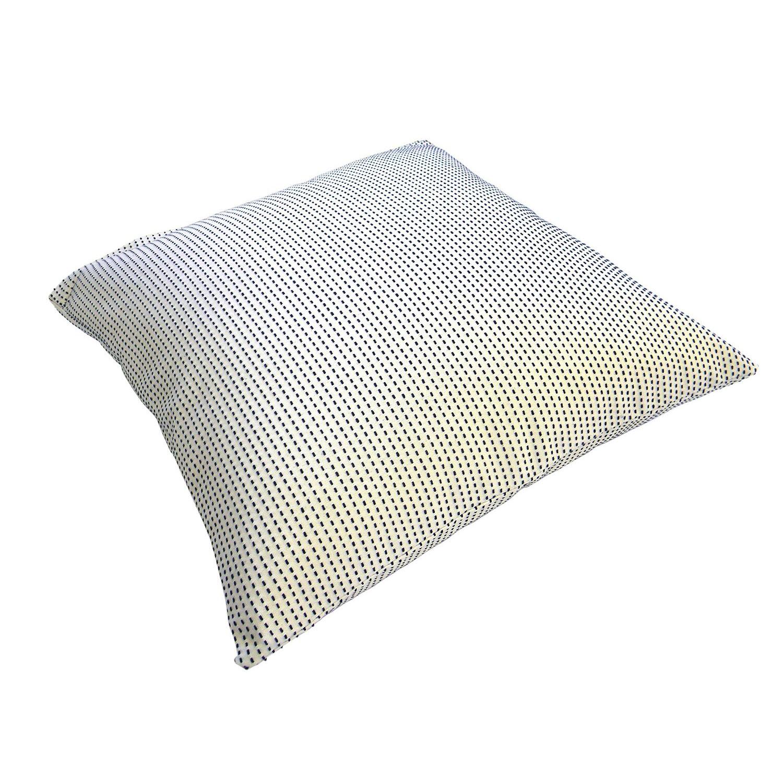 【東三河織物】 刺し子 クッションカバー 45x45cm 綿100% (一本刺し子) #SK-011
