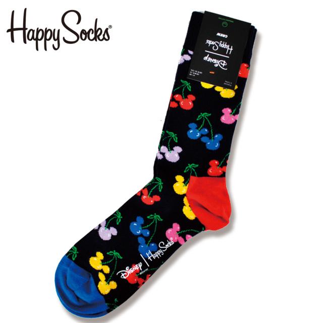 Happy Socks(ハッピーソックス)/【Disneyディズニーコラボ】Very Cherry Mickey(ベリー チェリー ミッキー )